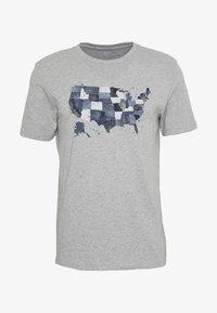 GAP - USA MAP - Print T-shirt - light heather grey - 3
