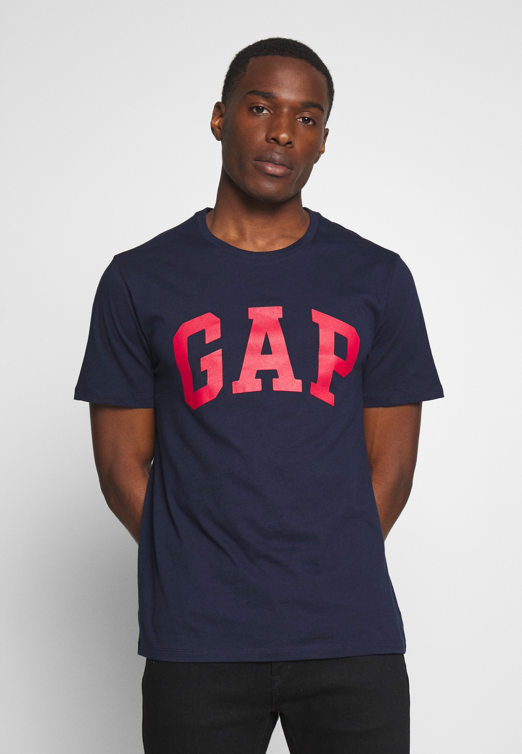 GAP VBASIC ARCH 2 PACK - T-shirt z nadrukiem - blue/white