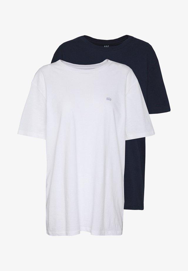 CREW 2 PACK - T-shirt basic - navy combo