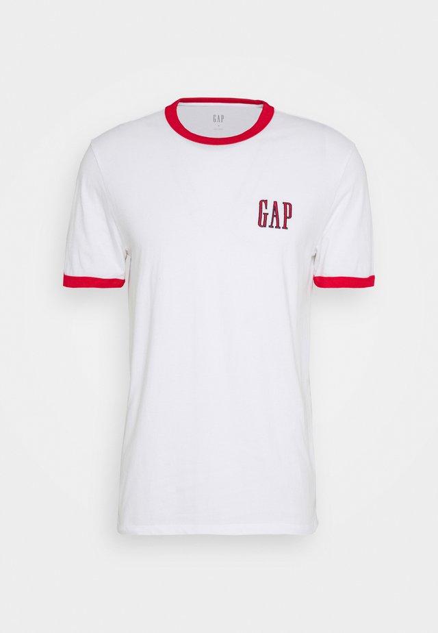 LOGO RINGER  - T-shirt con stampa - optic white