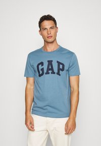 GAP - BASIC ARCH 2 PACK - Print T-shirt - blue black - 2