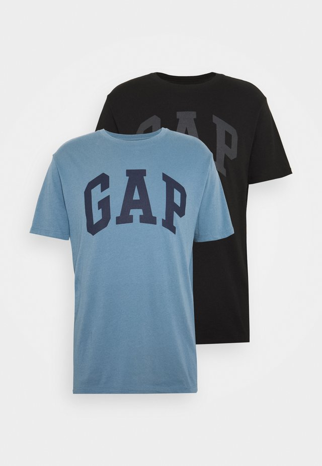 BASIC ARCH 2 PACK - T-shirt con stampa - blue black