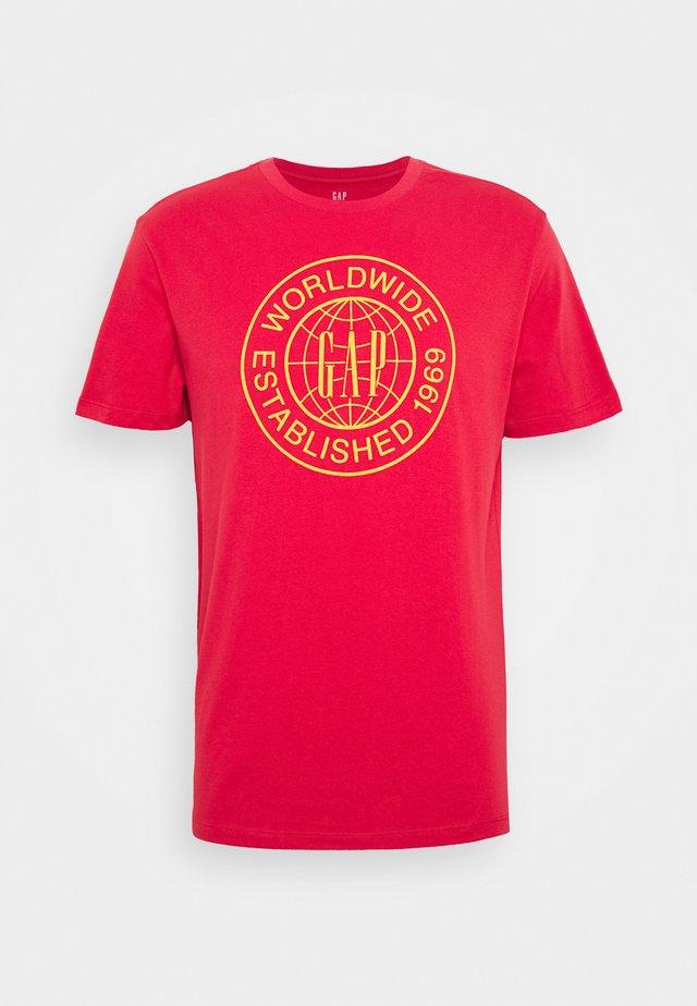 WORLD CIRCLE - T-shirt con stampa - hawaiian red
