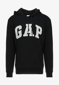 GAP - ARCH - Bluza z kapturem - true black
