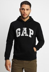 GAP - ARCH - Bluza z kapturem - true black - 0