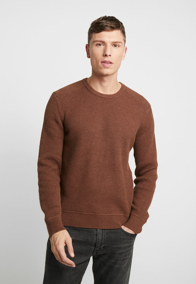 WAFFLE CREW - Neule - brown heather
