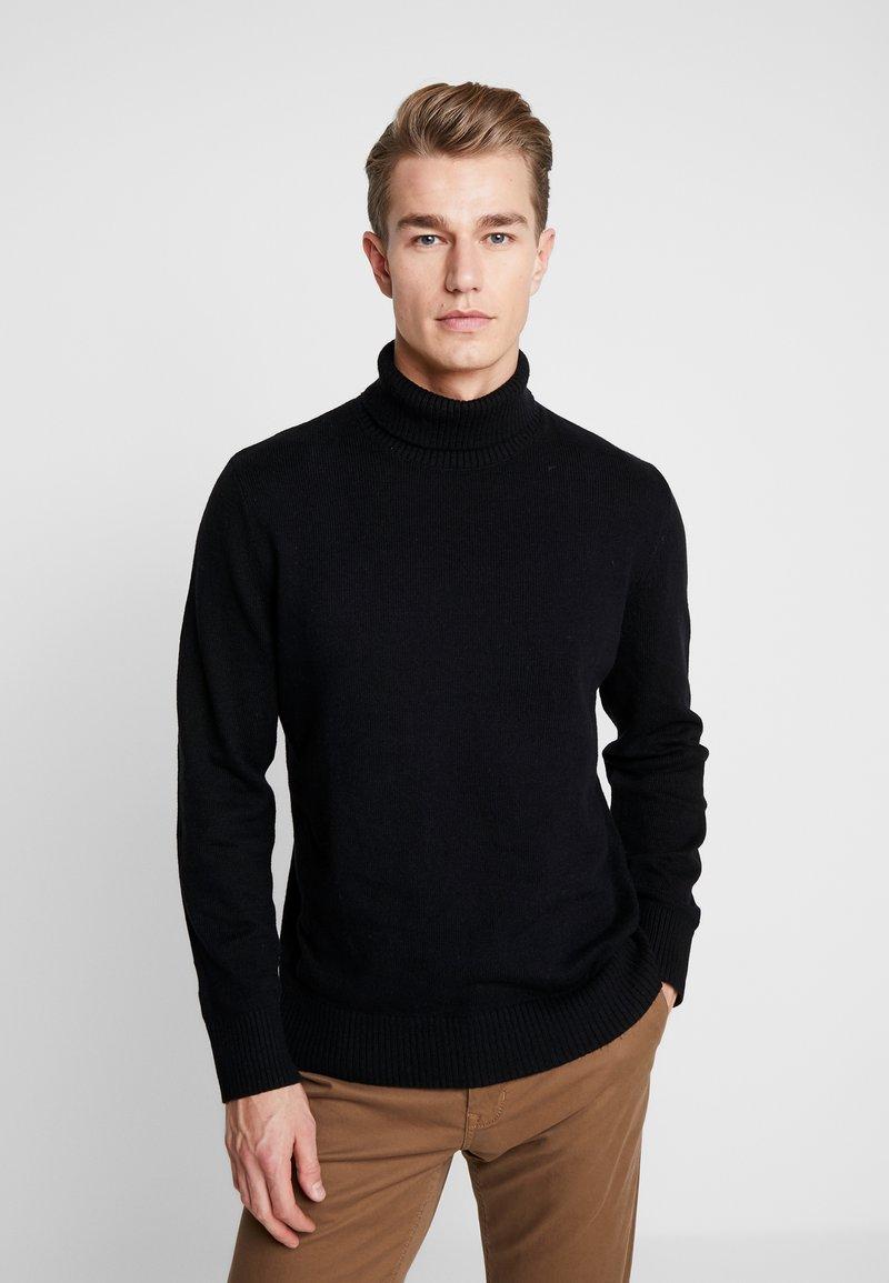 GAP - WARMEST TURTLE NECK - Pullover - true black