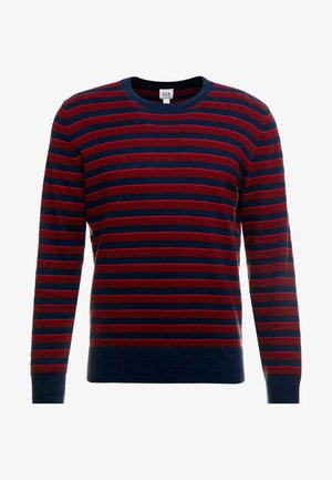 CORE ALLOVER STRIPE - Sweter - pure red