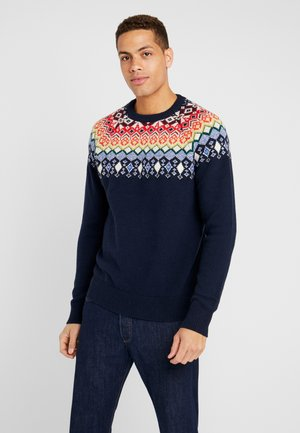 FAIRISLE YOKE CREW - Jumper - tapestry navy