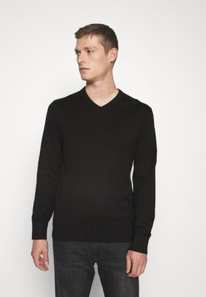 MAINSTAY VEE - Strickpullover - true black