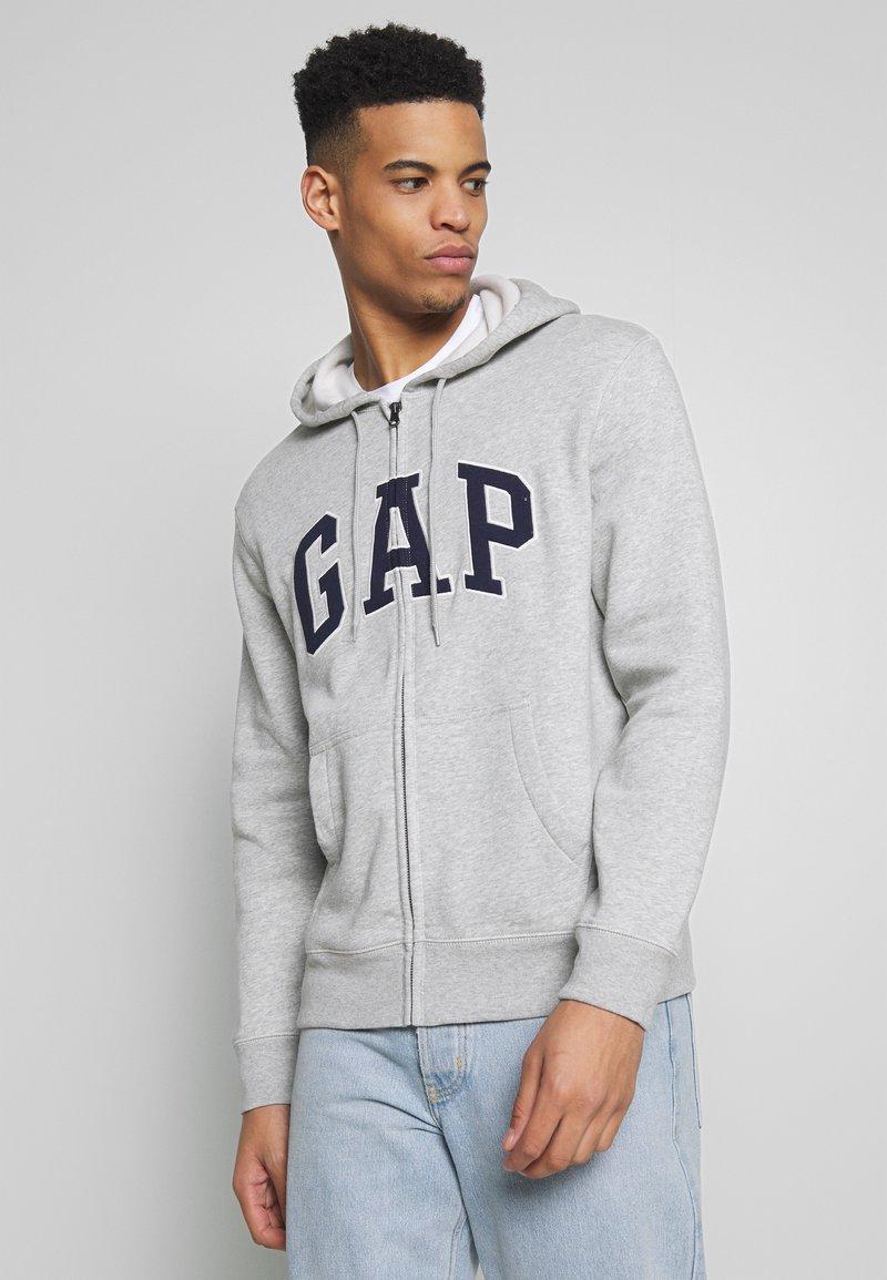 GAP - ARCH - Mikina na zip - light heather grey