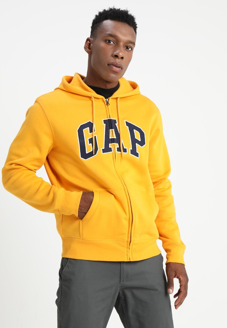 GAP - ARCH - Mikina na zip - nugget gold