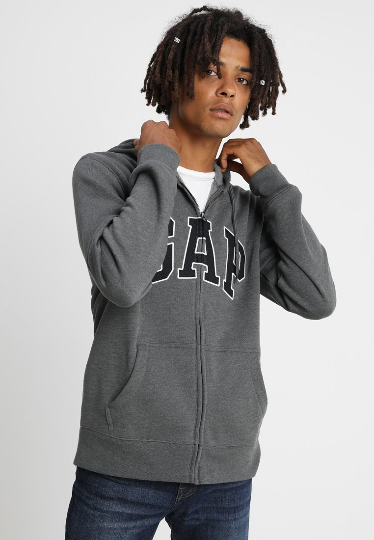 GAP - ARCH - Zip-up hoodie - charcoal grey