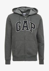 GAP - ARCH - Zip-up hoodie - charcoal grey - 4