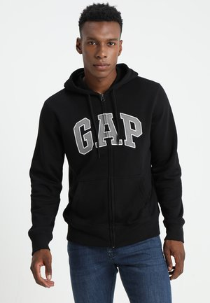 ARCH - Zip-up hoodie - true black