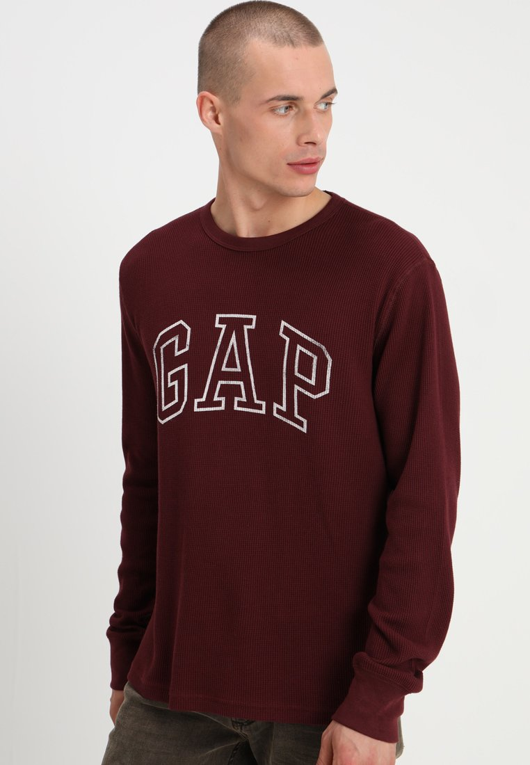 GAP - ARCH THERMAL - Long sleeved top - pinot noir