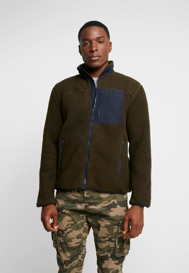 GAP - HALF ZIP JACKET - Fleecejakke - deep woods