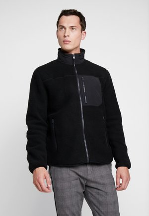 HALF ZIP JACKET - Veste polaire - true black