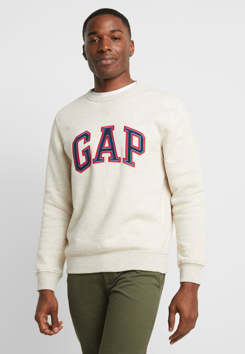 GAP - ARCH CREW - Sweater - oatmeal heather