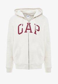 GAP - ARCH SHERPA  - Zip-up hoodie - oatmeal heather - 4