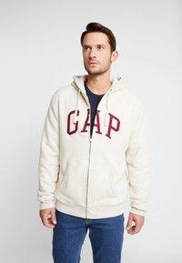 GAP - ARCH SHERPA  - Zip-up hoodie - oatmeal heather - 0