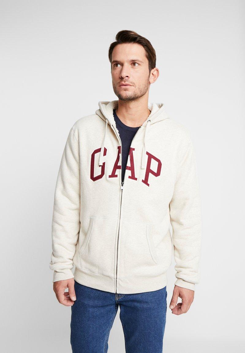 GAP - ARCH SHERPA  - Zip-up hoodie - oatmeal heather