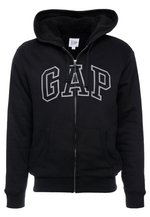 ARCH SHERPA  - Zip-up hoodie - true black