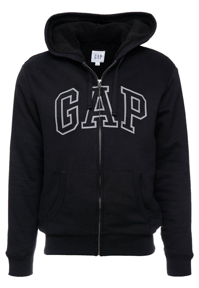 GAP - ARCH SHERPA  - Mikina na zip - true black