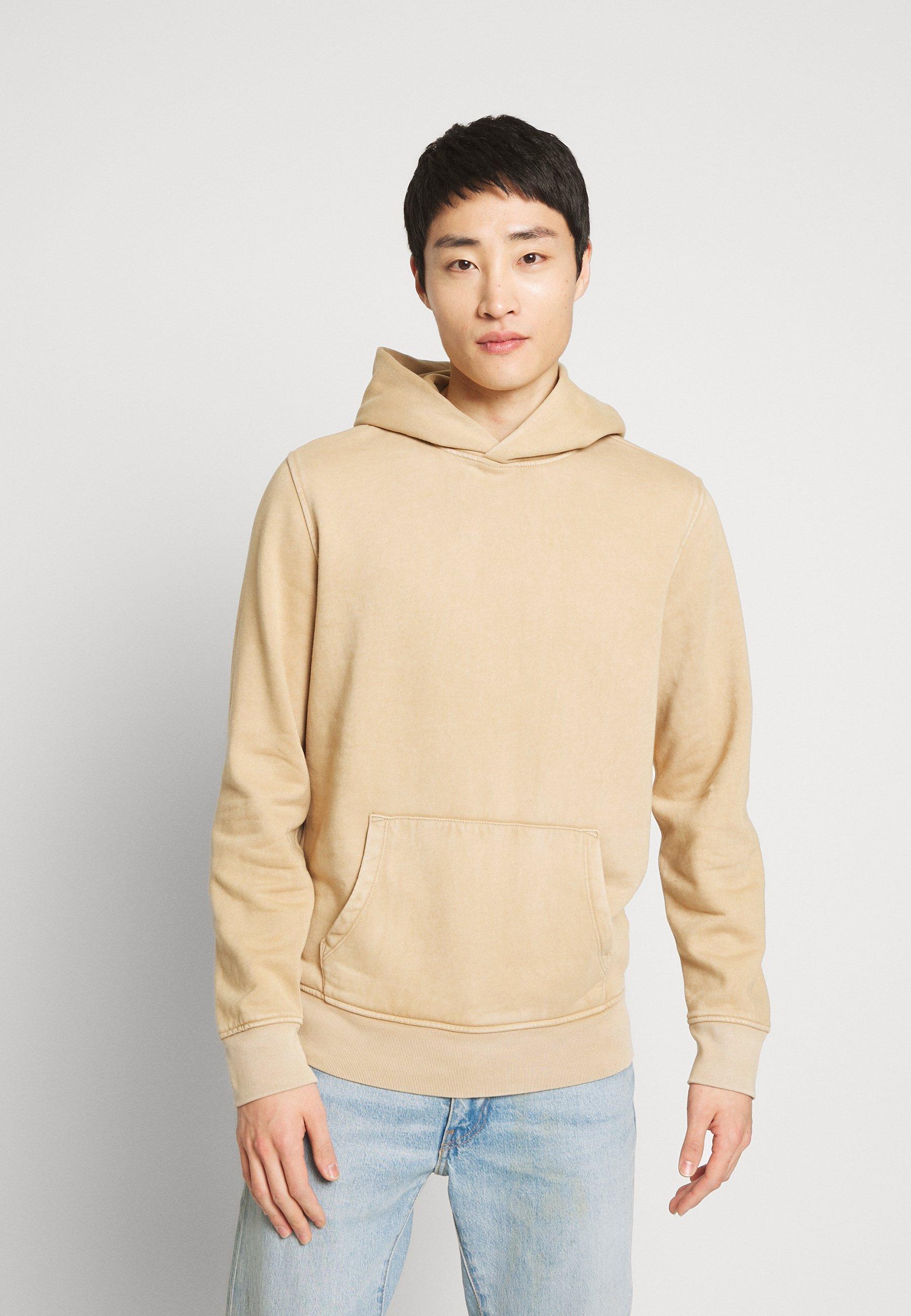 GAP SUEDED HOOD - Bluza z kapturem - camel beige