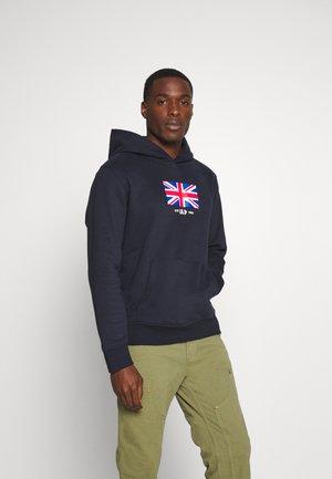 UK FLAG - Bluza z kapturem - new classic navy