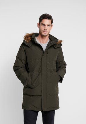 LONG QUILTED - Down coat - deep woods