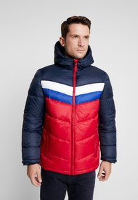 GAP - V-HOODED NOVELTY HEAVYWEIGHT PUFFER - Light jacket - navy - 0