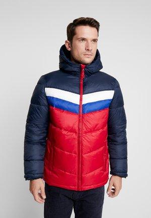 V-HOODED NOVELTY HEAVYWEIGHT PUFFER - Light jacket - navy