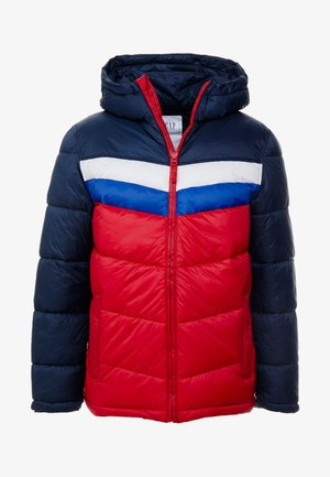 V-HOODED NOVELTY HEAVYWEIGHT PUFFER - Light jacket - navy