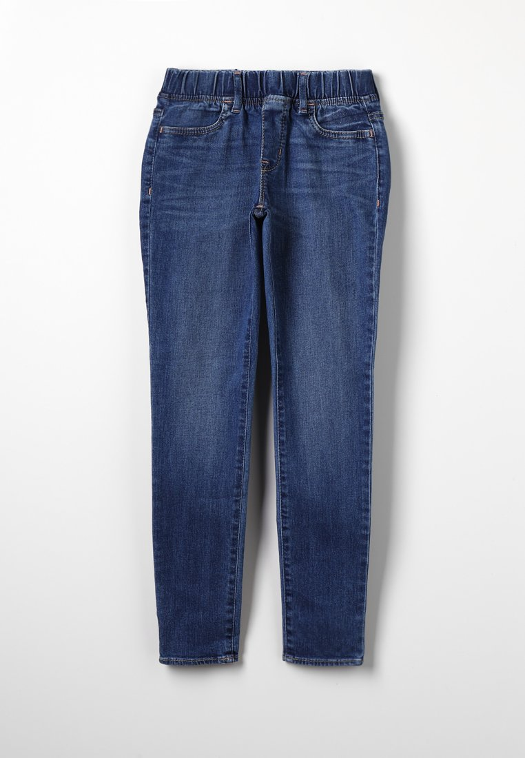 GAP - GIRLS WOVEN BOTTOMS  - Jegging - medium indigo