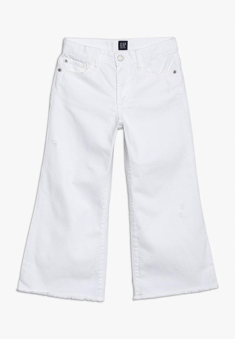 GAP - GIRLS BOTTOMS LEG - Široké džíny - white