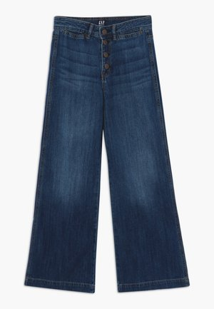 GIRL WIDE LEG - Jeans a zampa - dark wash
