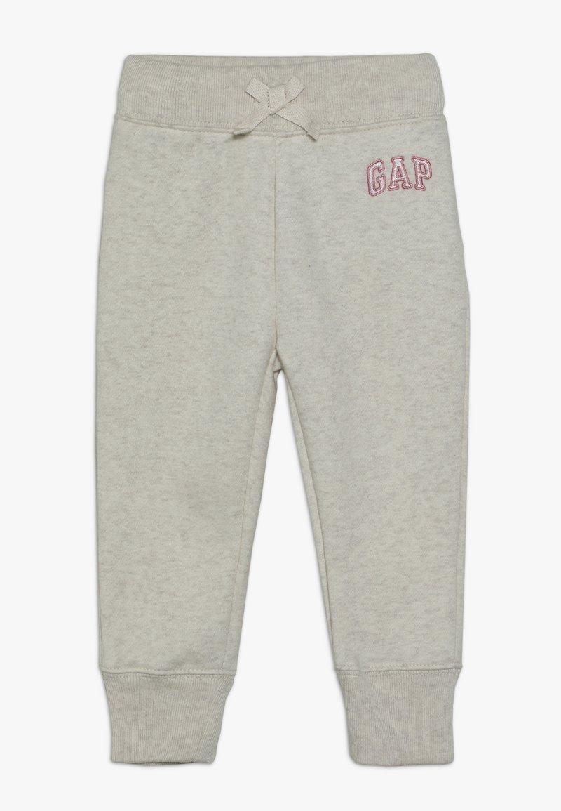 GAP - TODDLER GIRL LOGO  - Tracksuit bottoms - light heather grey