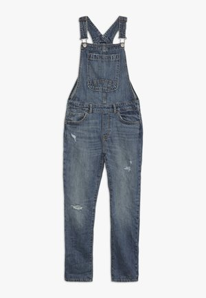 GIRL OVERALL - Hängselbyxor - medium indigo