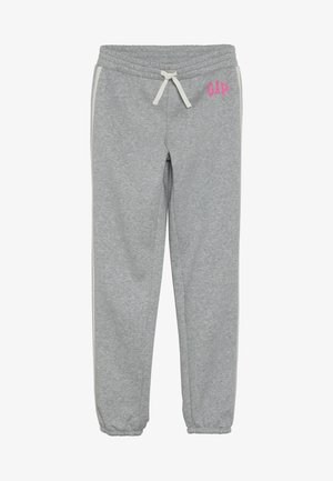 GIRL LOGO JOGGER - Tracksuit bottoms - light heather grey