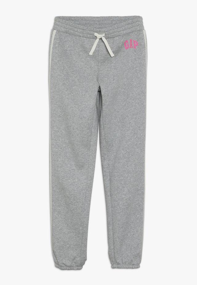 GIRL LOGO JOGGER - Teplákové kalhoty - light heather grey