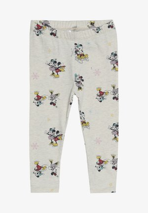 TODDLER GIRL MICKEY MINNIE - Leggings - beige melange