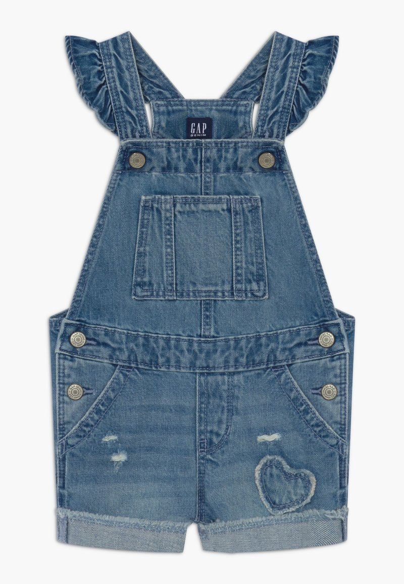 GAP - TODDLER GIRL SCALLOP - Tuinbroek - blue denim