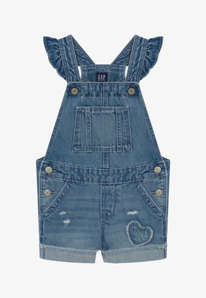 TODDLER GIRL SCALLOP - Salopette - blue denim