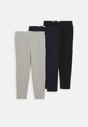 3 PACK - Leggings - Trousers - grey/blue/black