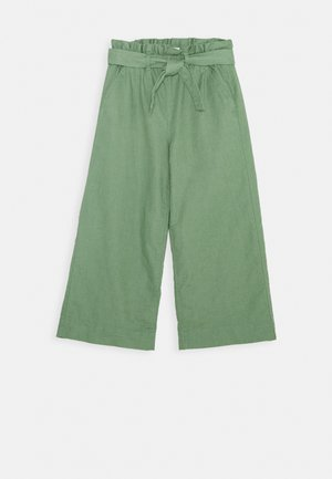 GIRL BELTED CROP - Trousers - khaki