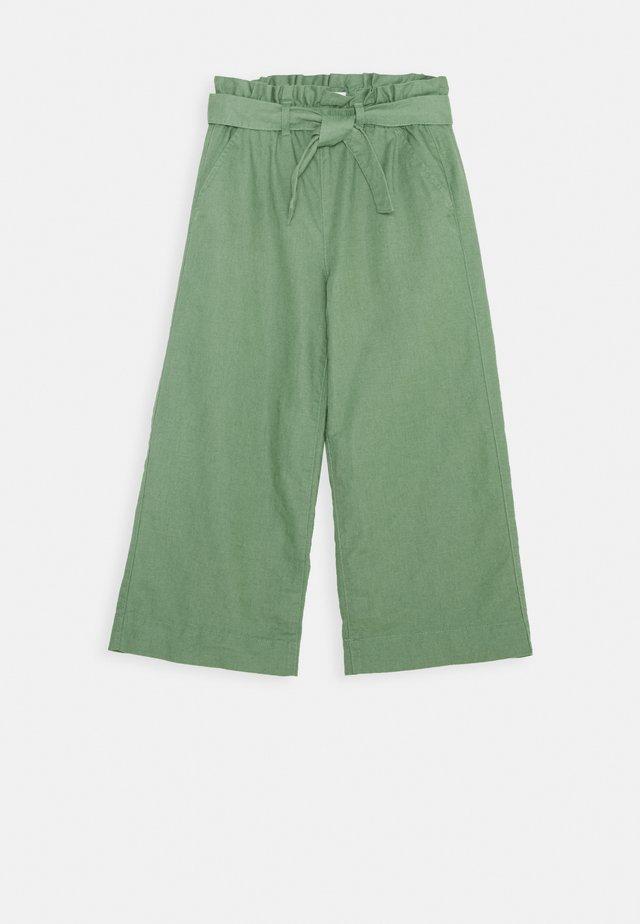 GIRL BELTED CROP - Pantaloni - khaki