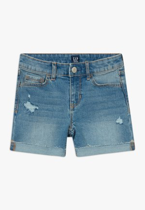 GIRL MIDI - Denim shorts - blue denim