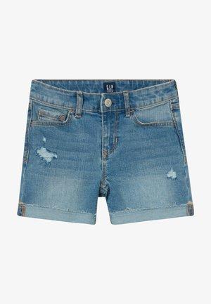 GIRL MIDI - Short en jean - blue denim