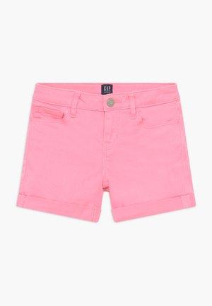 GIRL MIDI - Jeansshorts - neon impulsive pink
